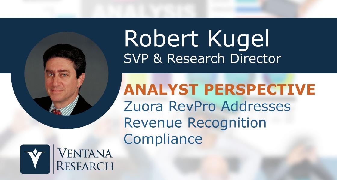 Zuora RevPro Addresses Revenue Recognition Compliance